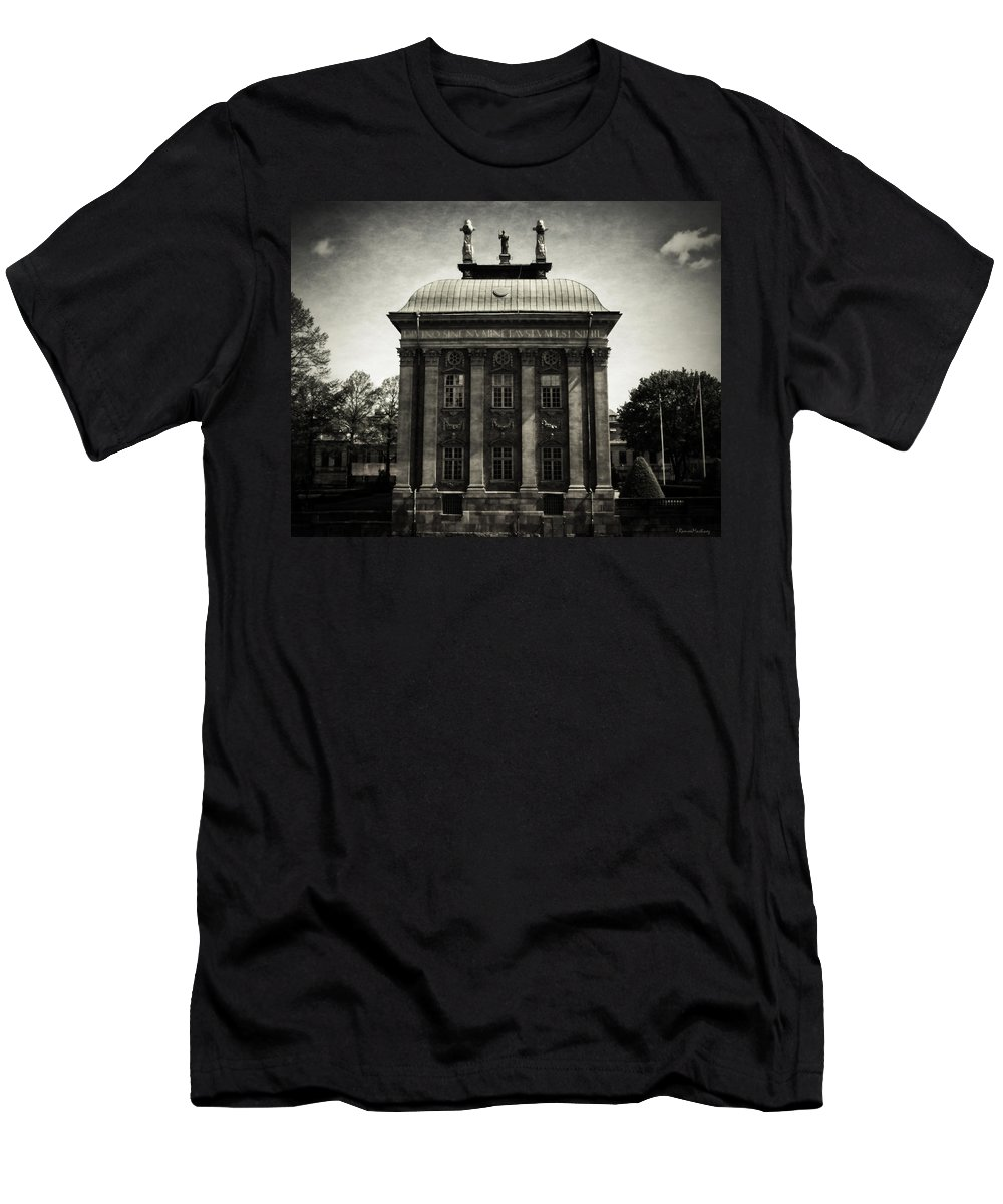 Stockholm Men's T-Shirt (Athletic Fit) featuring the photograph Stockholm Building by Ramon Martinez