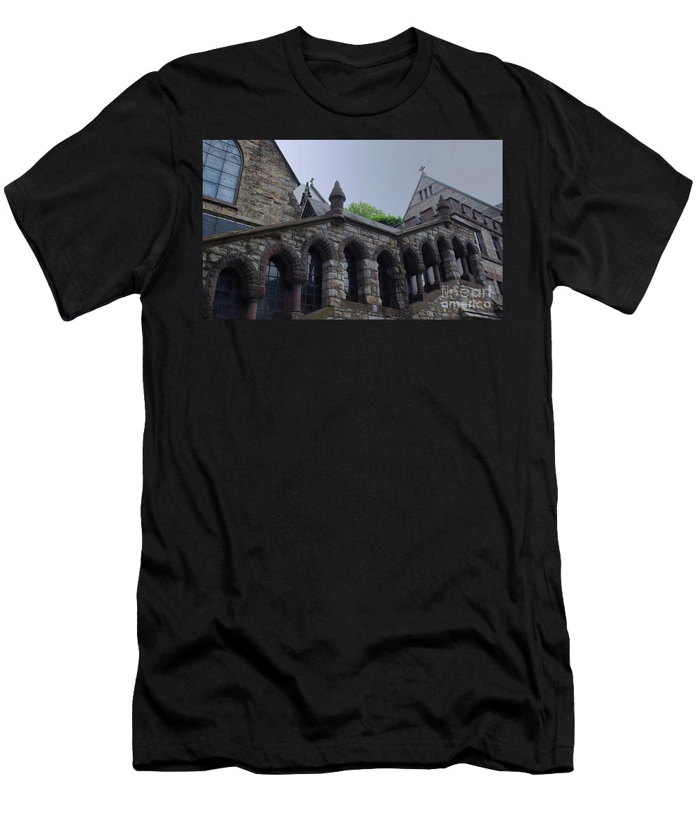 Church Men's T-Shirt (Athletic Fit) featuring the photograph Stone Church by Lori Tambakis