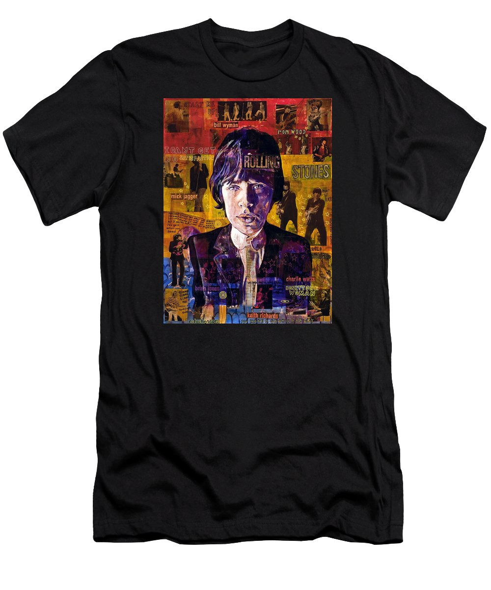Men's T-Shirt (Athletic Fit) featuring the painting Stones by Ray Stephenson