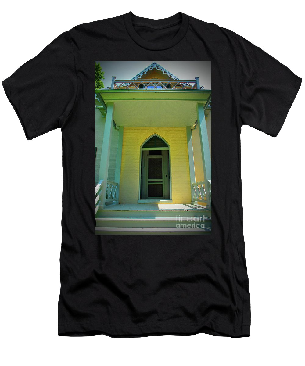 Stonewall Men's T-Shirt (Athletic Fit) featuring the photograph Stonewall Door by Jost Houk