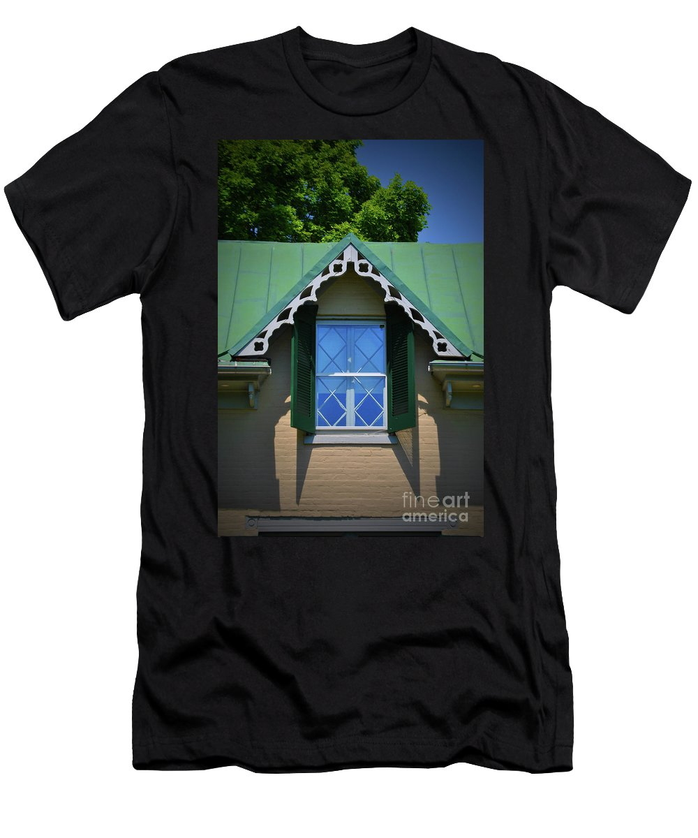 Stonewall Men's T-Shirt (Athletic Fit) featuring the photograph Stonewall Window by Jost Houk