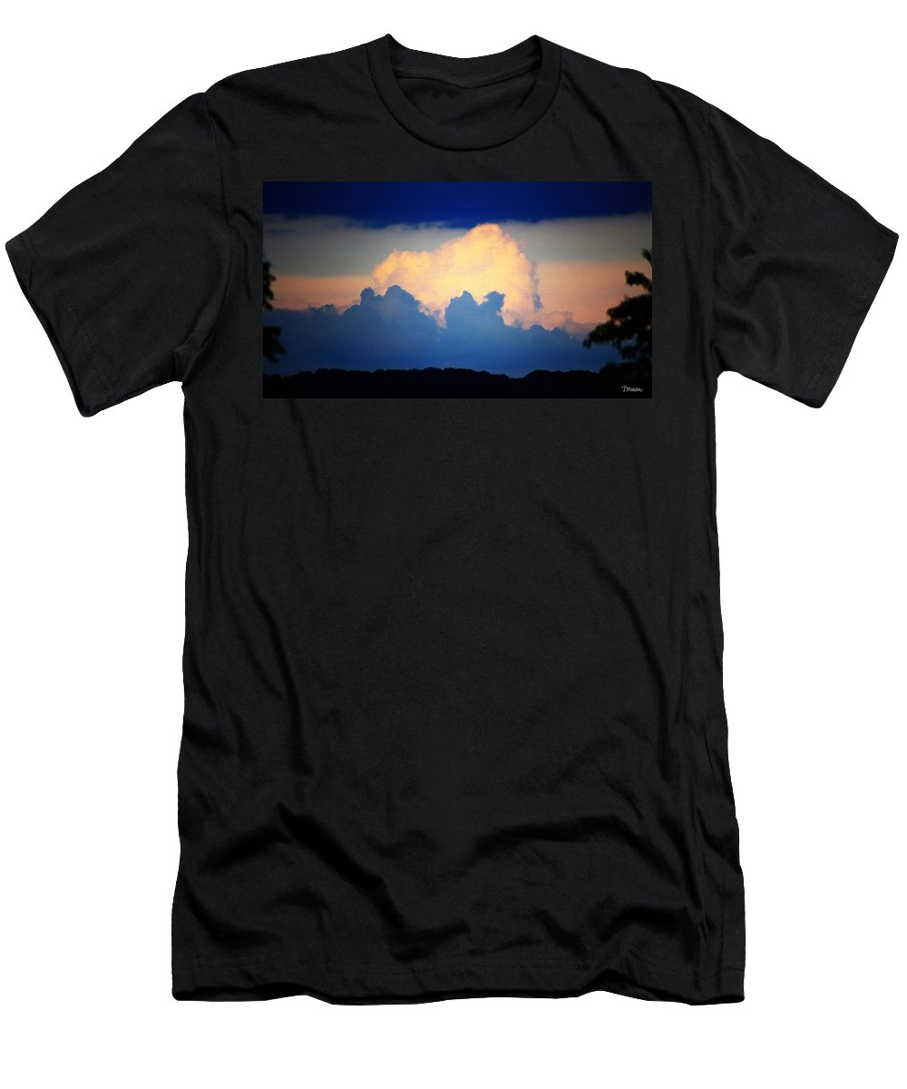West Men's T-Shirt (Athletic Fit) featuring the digital art Storm Approaching Painting by Teresa Mucha
