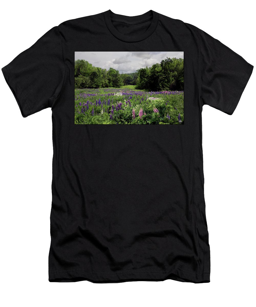 Lupine Men's T-Shirt (Athletic Fit) featuring the photograph Storm In The Lupine by Wayne King