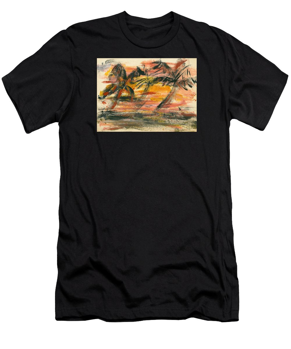 Stormy Men's T-Shirt (Athletic Fit) featuring the painting Storm by Jorge Delara