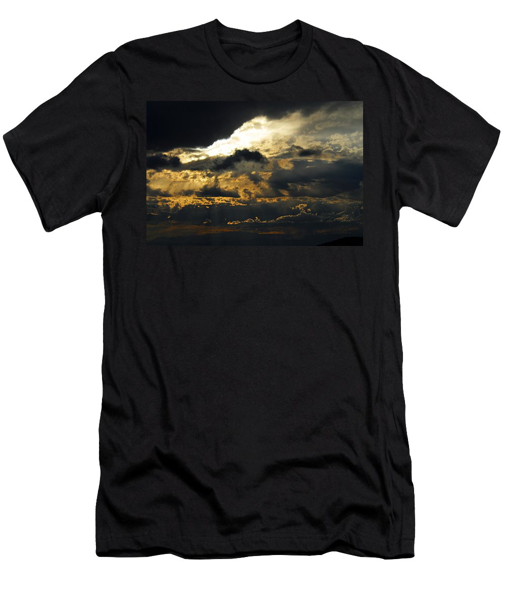 Storm Clouds Men's T-Shirt (Athletic Fit) featuring the photograph Storm Rolling In by Larry Ricker