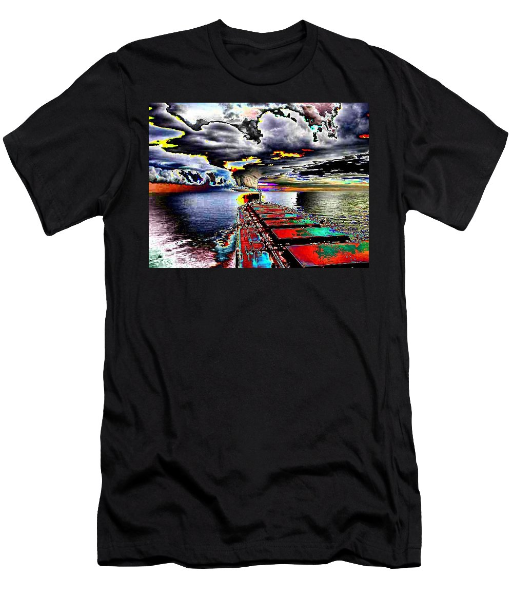 Storm Clouds Men's T-Shirt (Athletic Fit) featuring the photograph Storm Warning by Tim Allen
