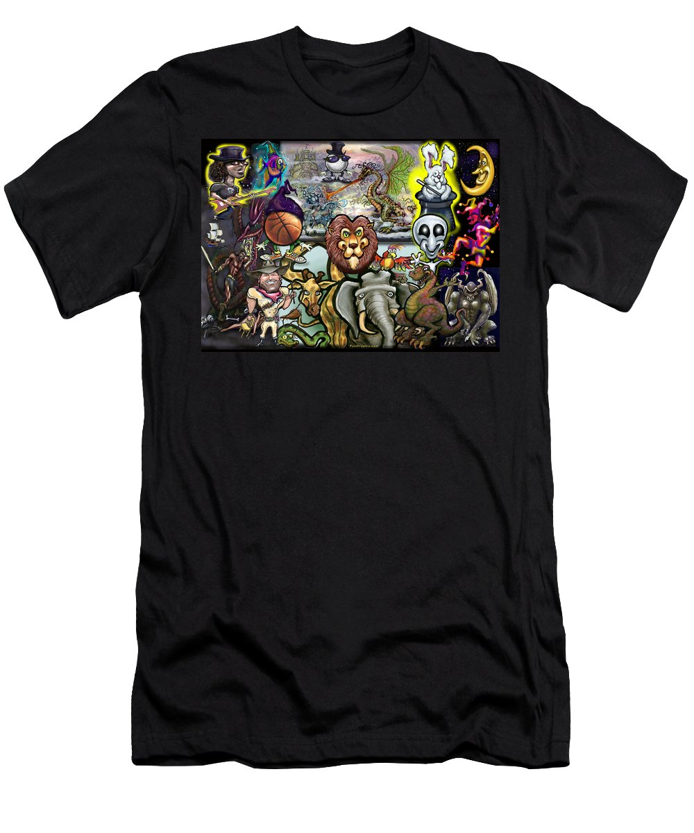 Story Men's T-Shirt (Athletic Fit) featuring the painting Storytime by Kevin Middleton