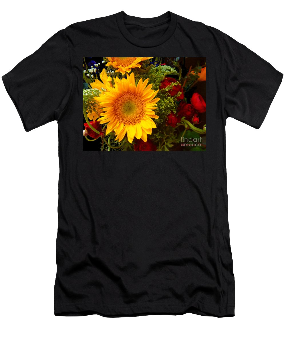 Sunflower Men's T-Shirt (Athletic Fit) featuring the photograph Straight No Chaser by RC DeWinter