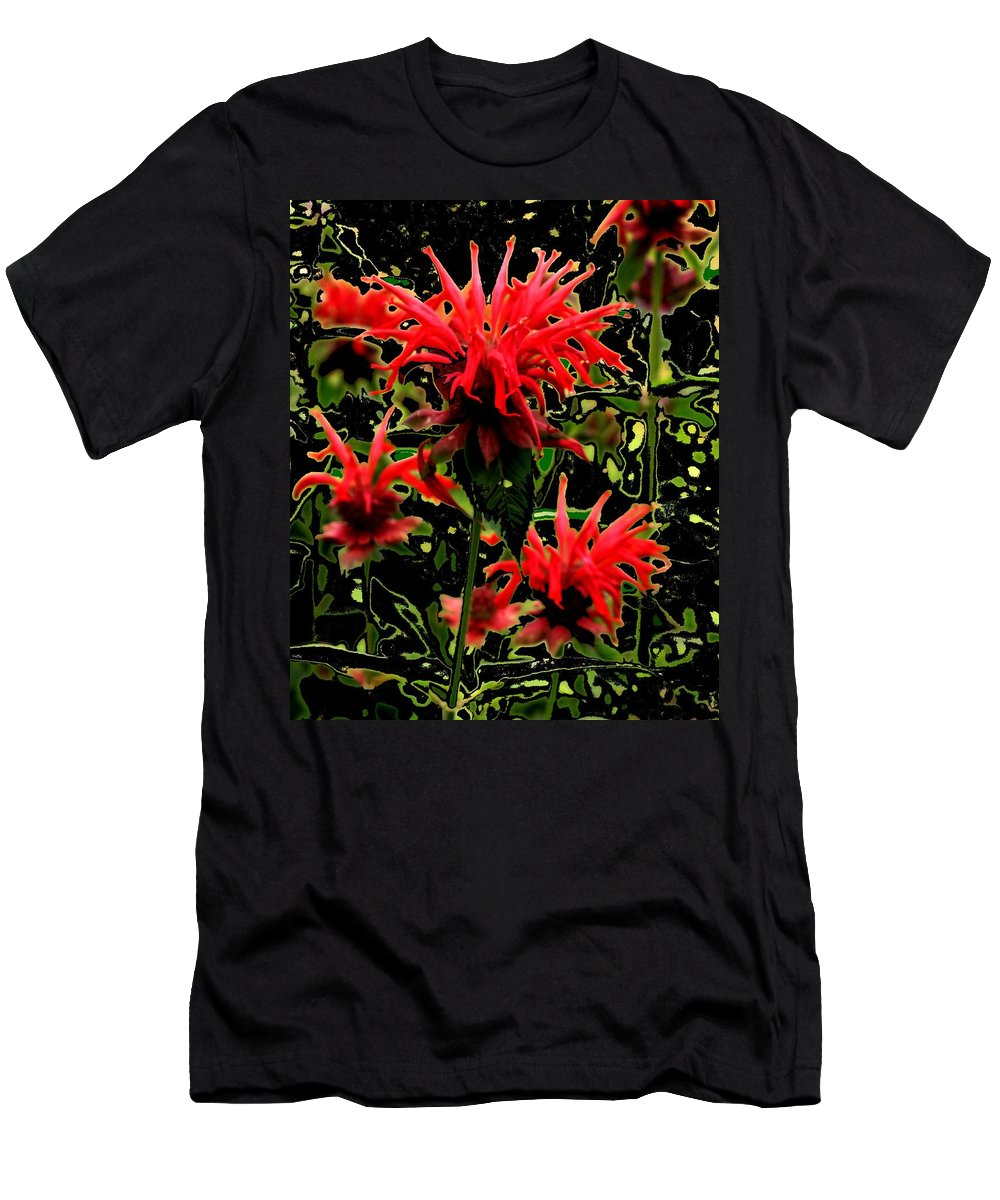 Abstract Men's T-Shirt (Athletic Fit) featuring the photograph Strange Garden by Ian MacDonald