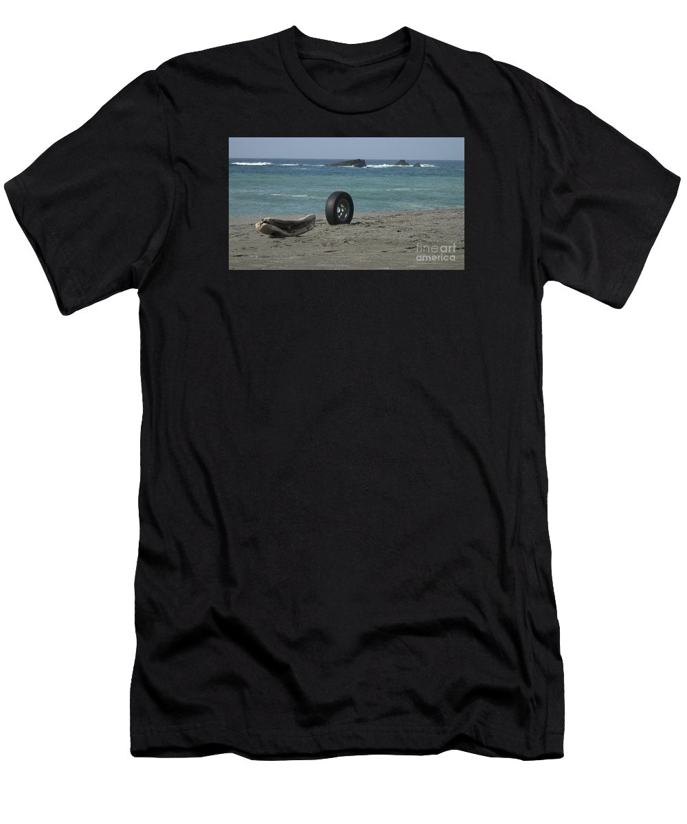 Photo Men's T-Shirt (Athletic Fit) featuring the photograph Strange Tire Ad by Cassandra Geernaert