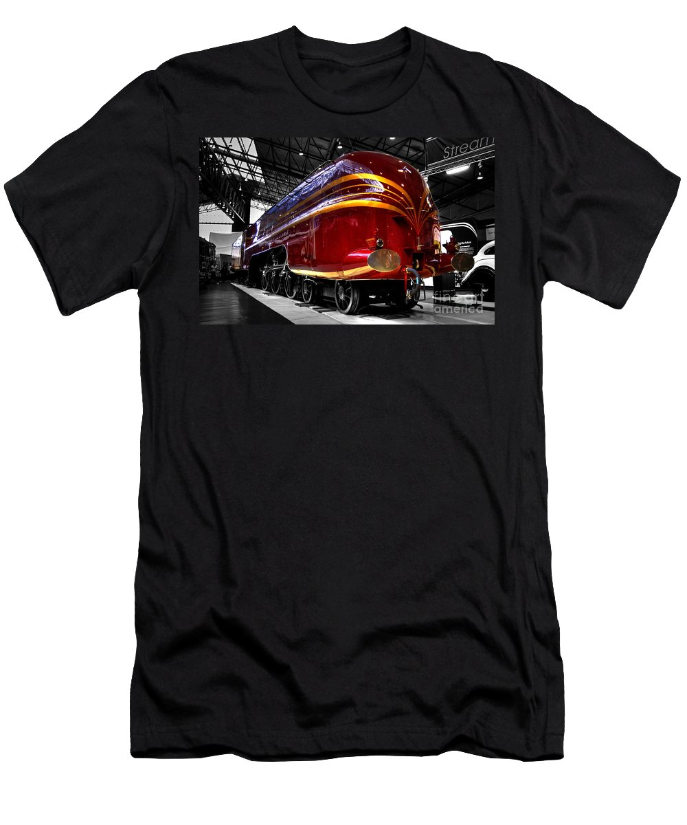 Red Men's T-Shirt (Athletic Fit) featuring the photograph Streamlined For Speed by Rob Hawkins
