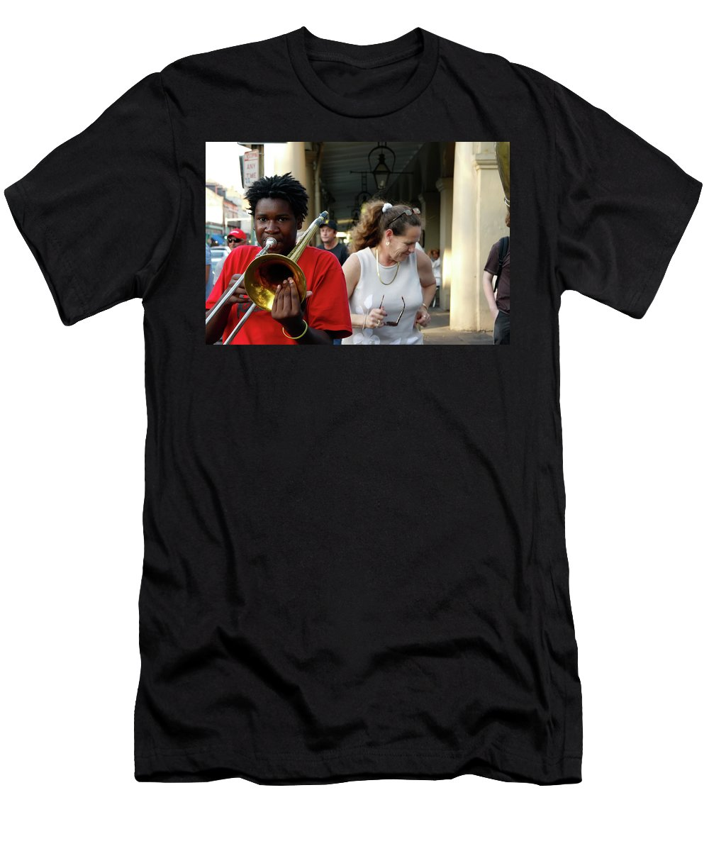 New Orleans Men's T-Shirt (Athletic Fit) featuring the photograph Street Jazz by KG Thienemann