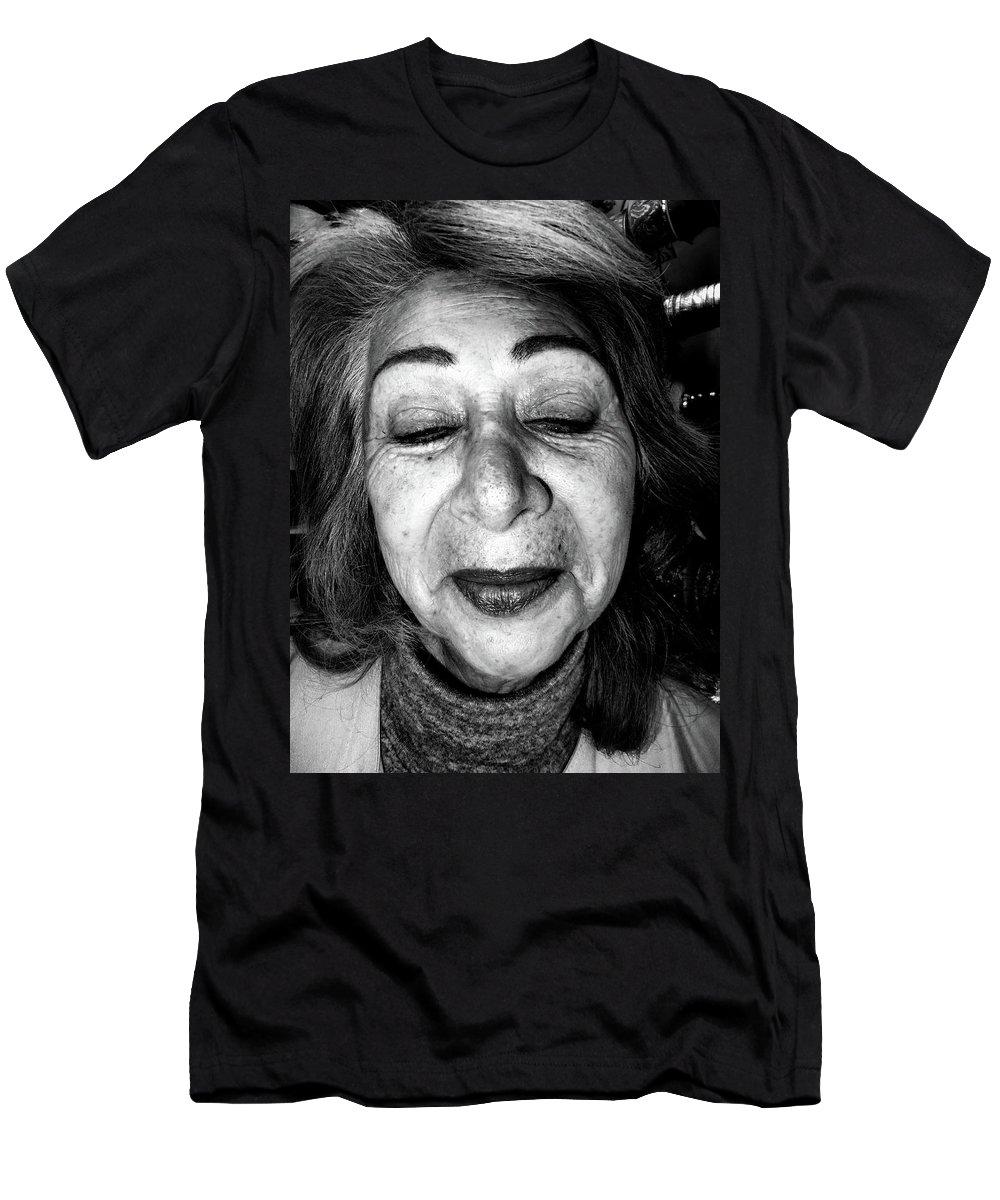 Lady Men's T-Shirt (Athletic Fit) featuring the photograph Street Portrait  303 by Daniel Gomez
