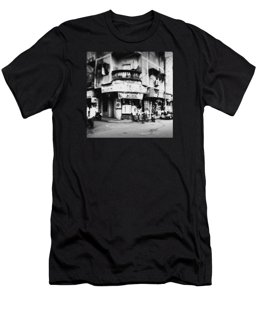 #street Photograohy #crossroads #street Corners #street Shops T-Shirt featuring the photograph StreetShots_Surat by Priyanka Dave