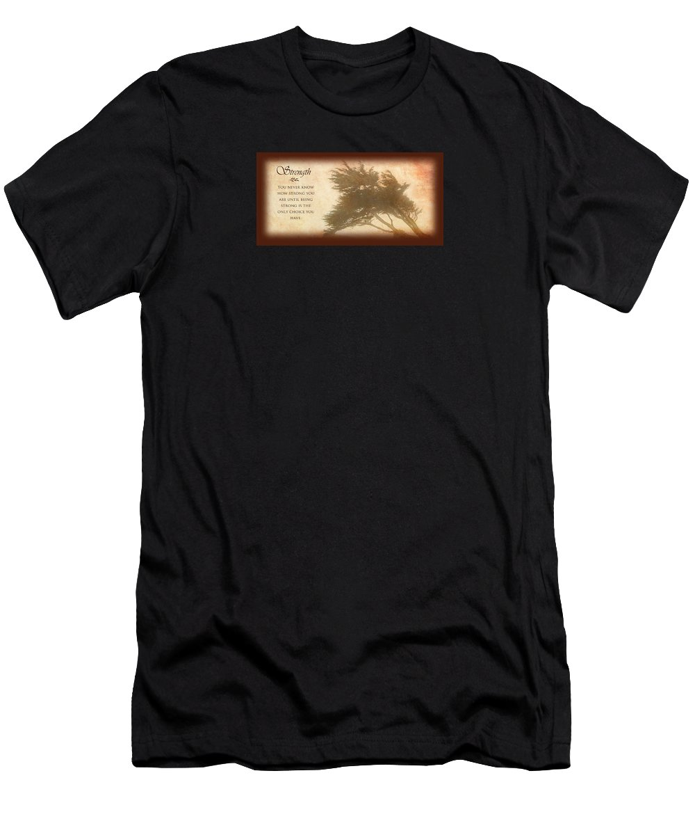 Strength Men's T-Shirt (Athletic Fit) featuring the photograph Strength by David Ross