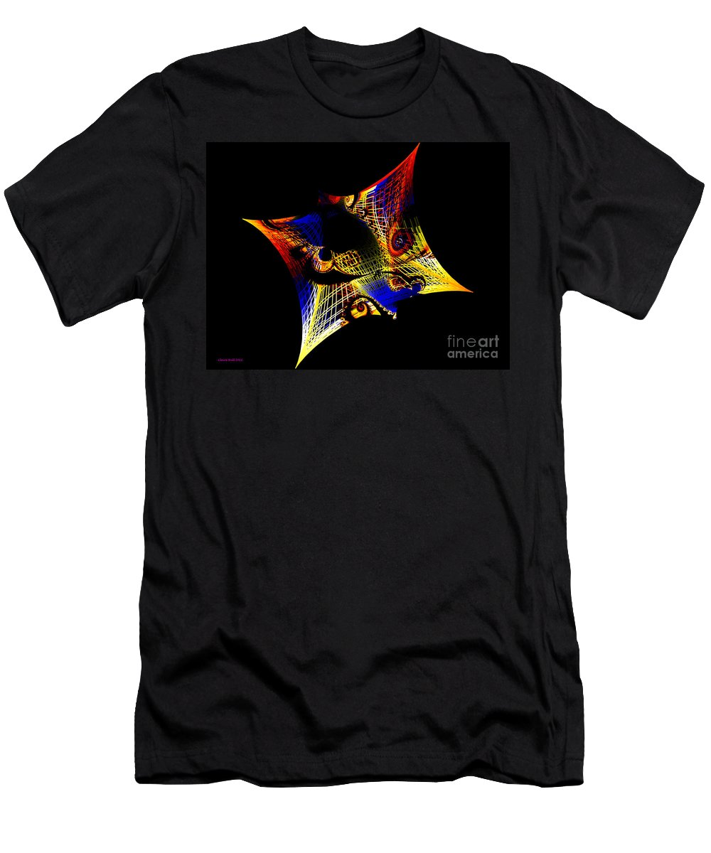 String Men's T-Shirt (Athletic Fit) featuring the digital art String Theory by Claire Bull