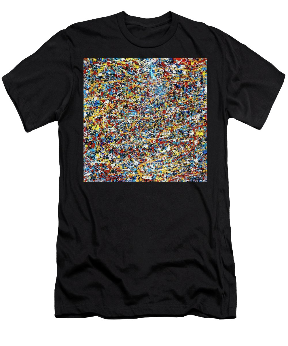 Abstract Men's T-Shirt (Athletic Fit) featuring the painting String Theory by Dominic Piperata