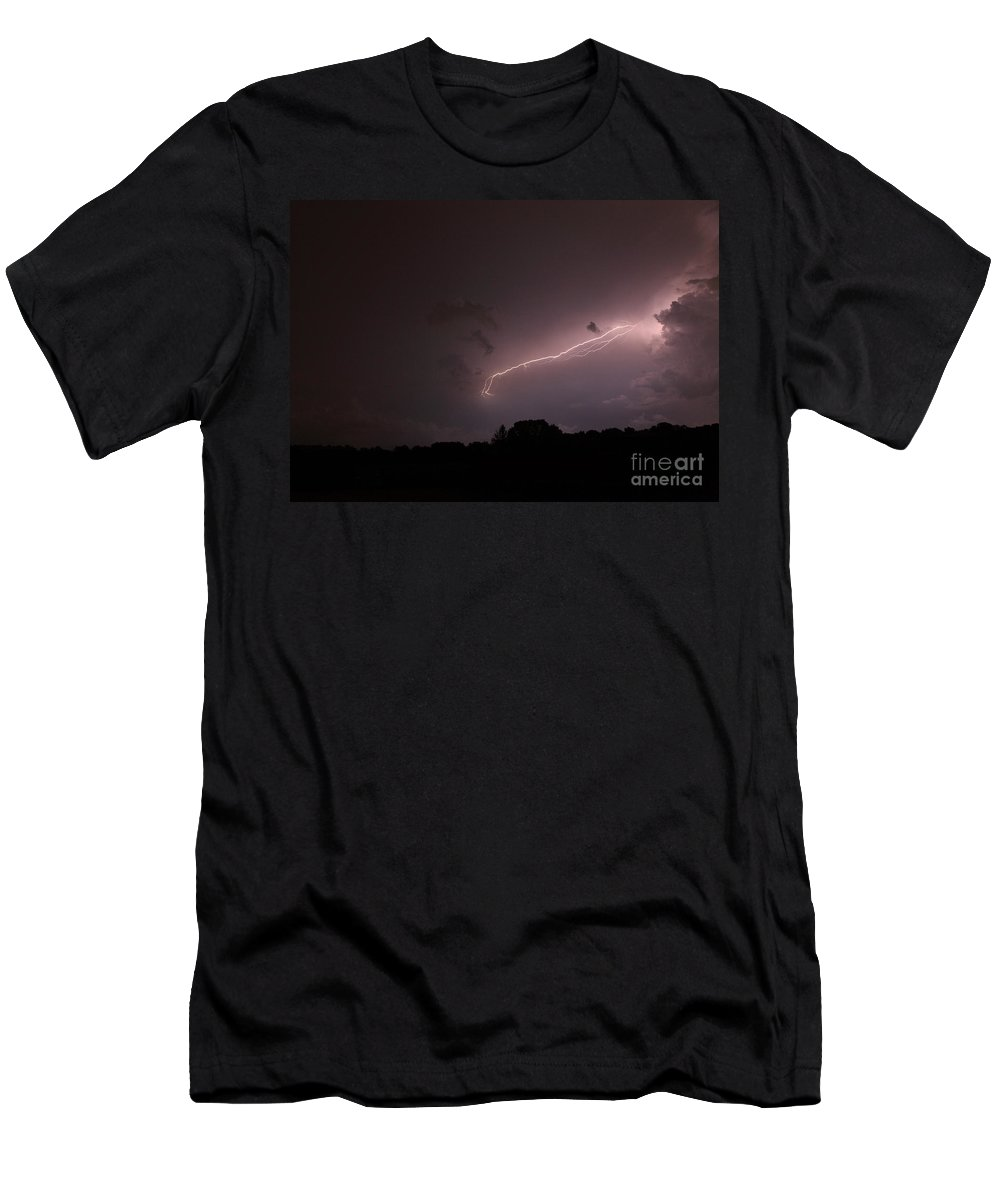 Lightning Men's T-Shirt (Athletic Fit) featuring the photograph Strong Arm by Amanda Barcon