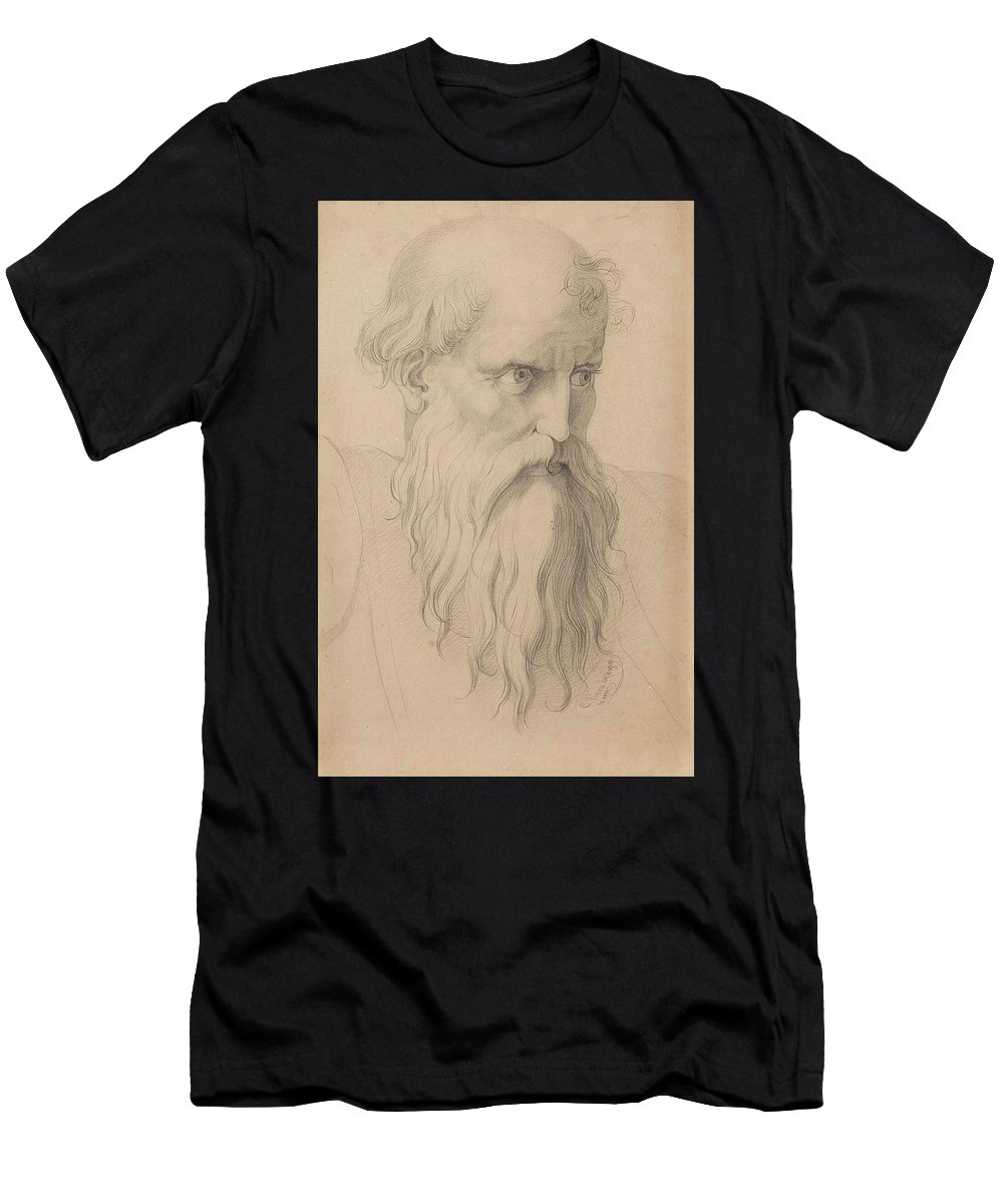 Carl Kronberger (freistadt Men's T-Shirt (Athletic Fit) featuring the painting Study Of A Character Head by MotionAge Designs