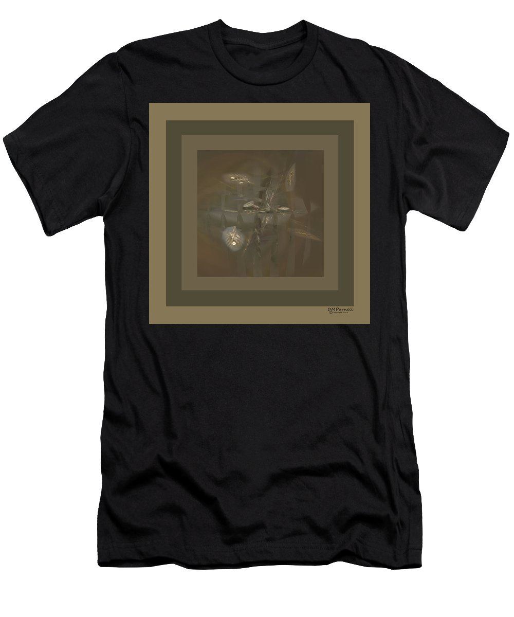 Taupe Men's T-Shirt (Athletic Fit) featuring the digital art Study Of Taupe Fractals by Diane Parnell