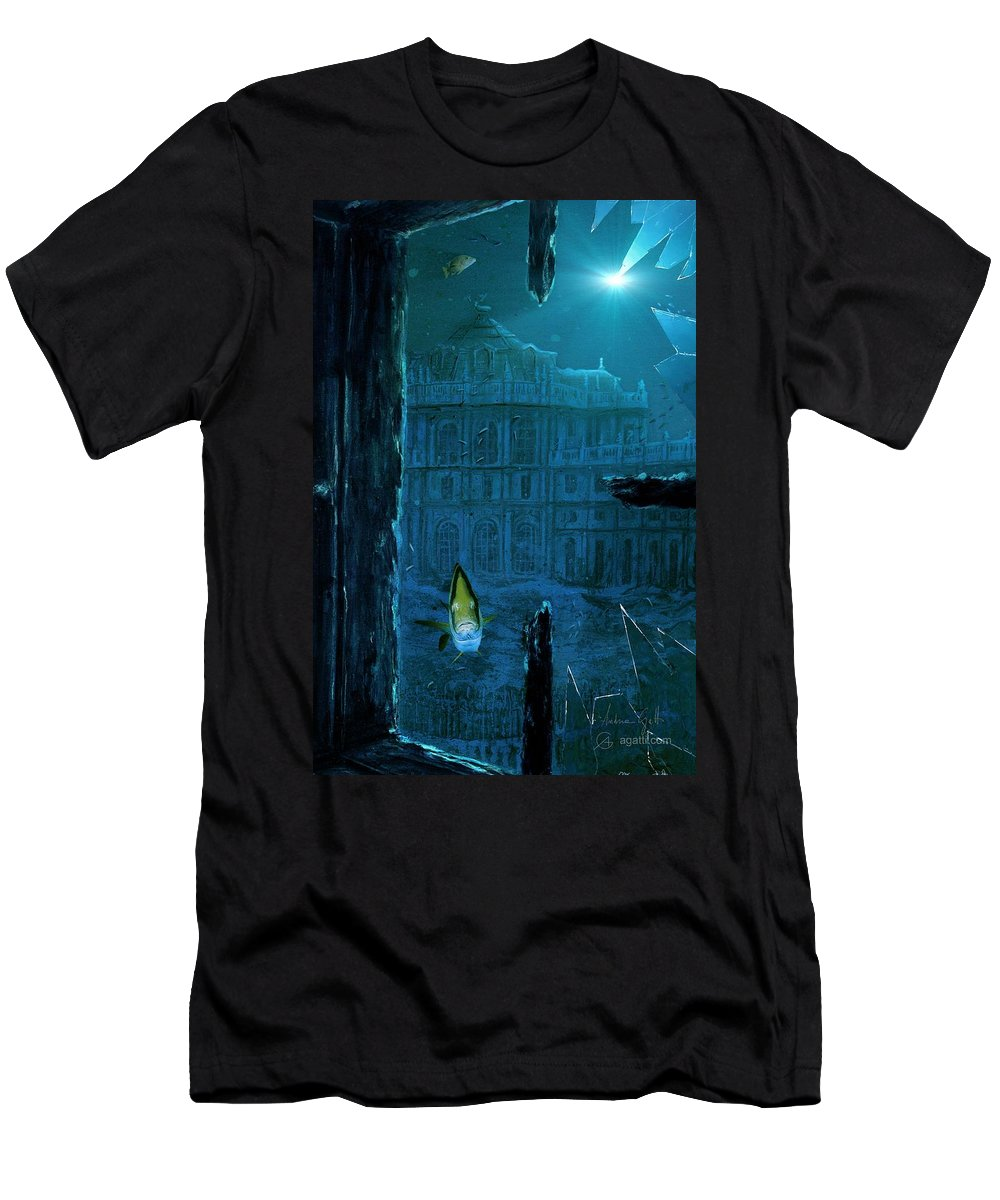 Sci-fi Men's T-Shirt (Athletic Fit) featuring the digital art Stupinigi by Andrea Gatti