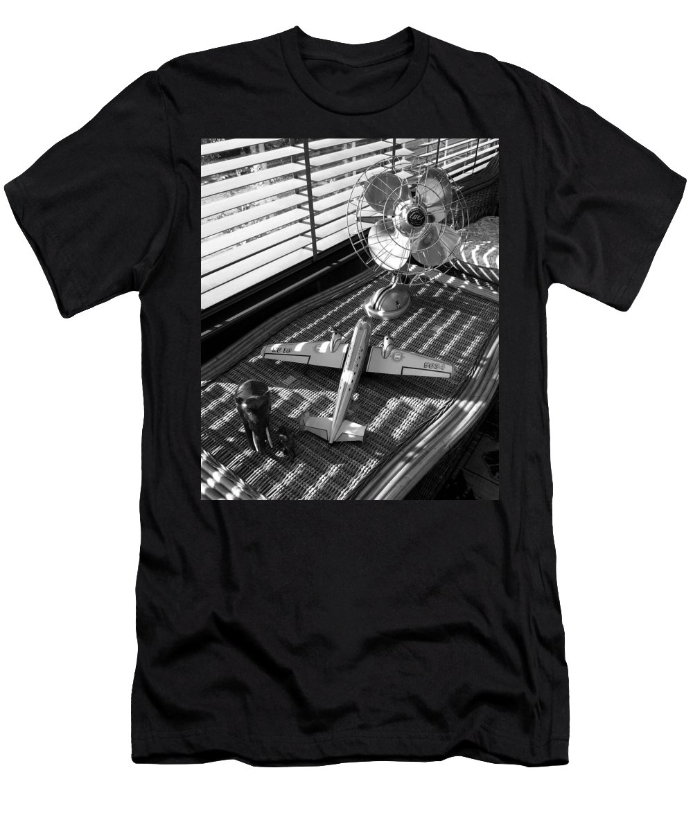 Still Life Men's T-Shirt (Athletic Fit) featuring the photograph Suburban Runway by Charles Stuart