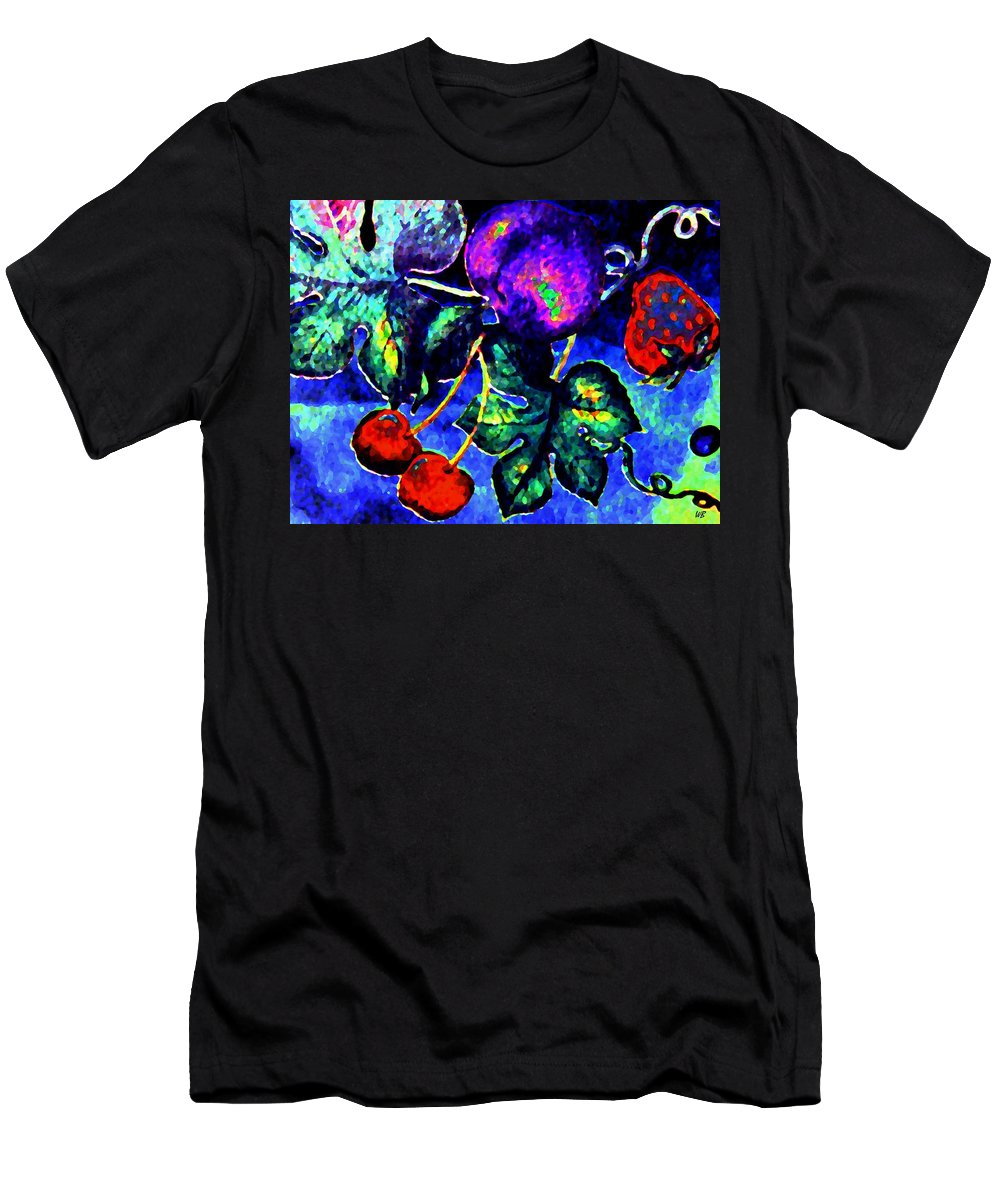 Abstract Men's T-Shirt (Athletic Fit) featuring the digital art Succulence by Will Borden
