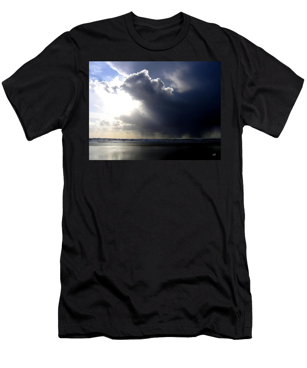 Squall Men's T-Shirt (Athletic Fit) featuring the photograph Sudden Squall by Will Borden