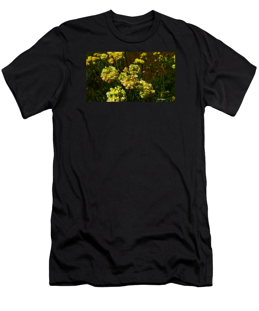 Ron Glaser Men's T-Shirt (Athletic Fit) featuring the photograph Sulfur Flower by Ron Glaser