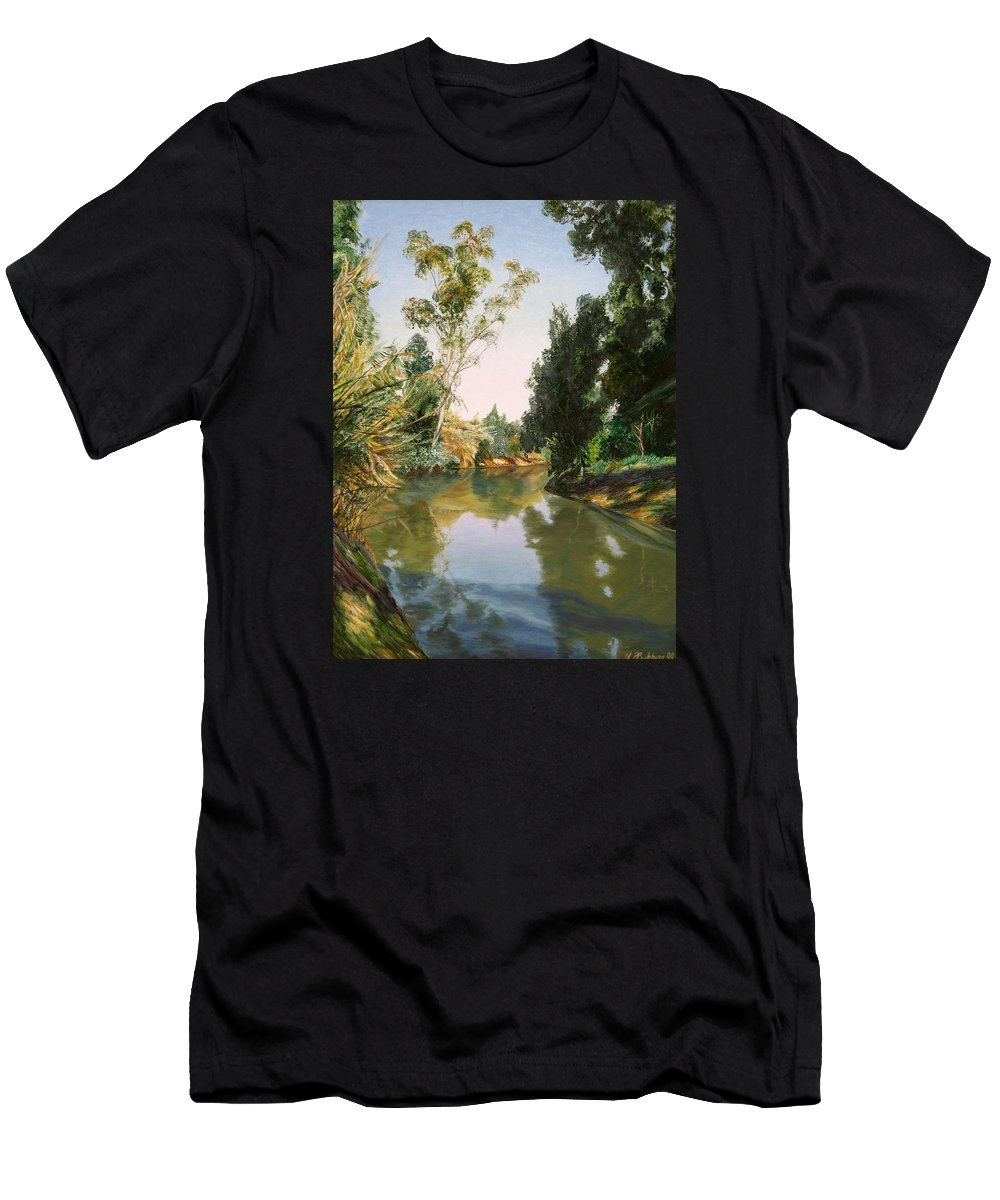 Sultry Day Men's T-Shirt (Athletic Fit) featuring the painting Sultry Day by Maya Bukhina