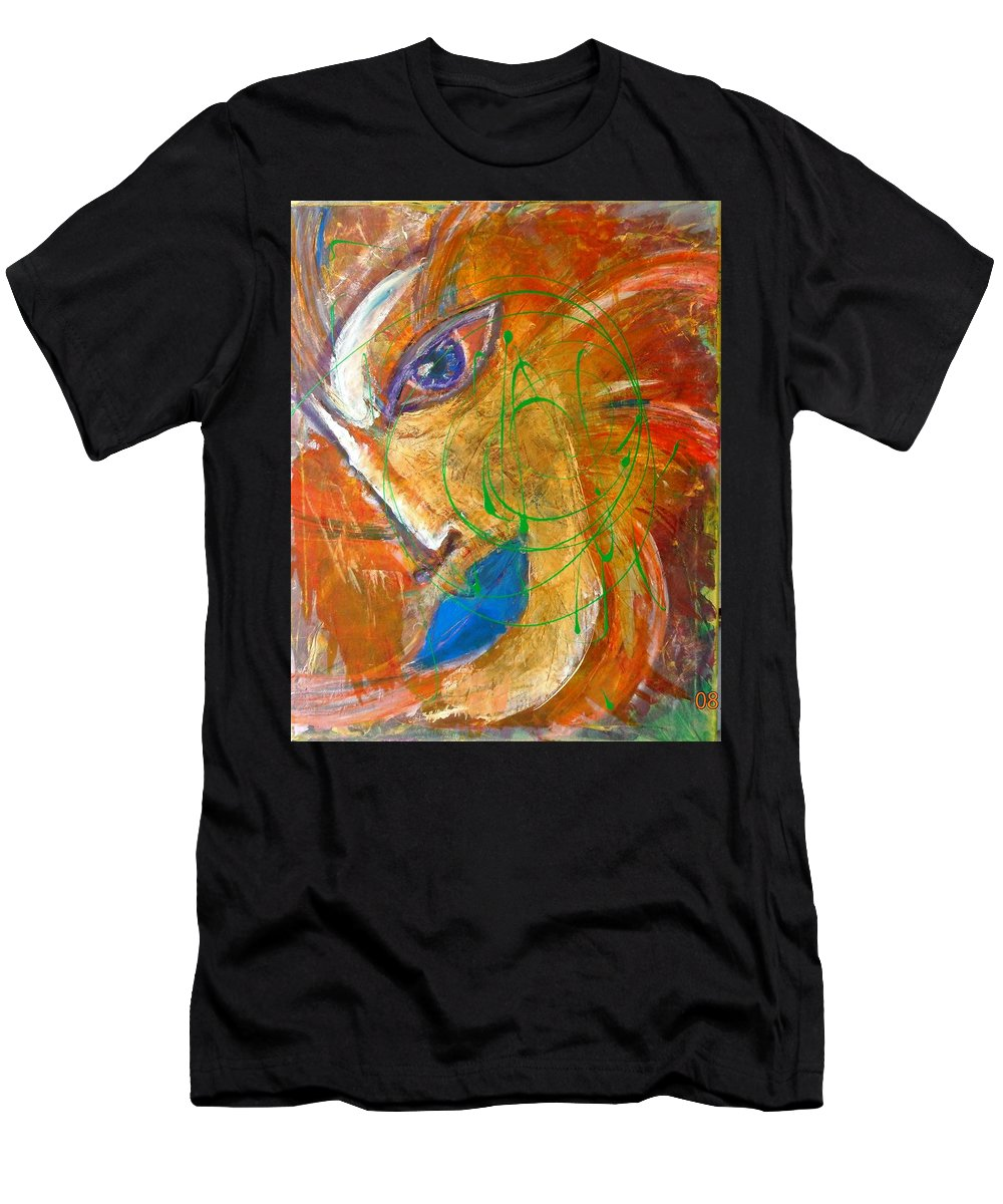 Portrait Men's T-Shirt (Athletic Fit) featuring the painting Sumerian by Inessa Guterman