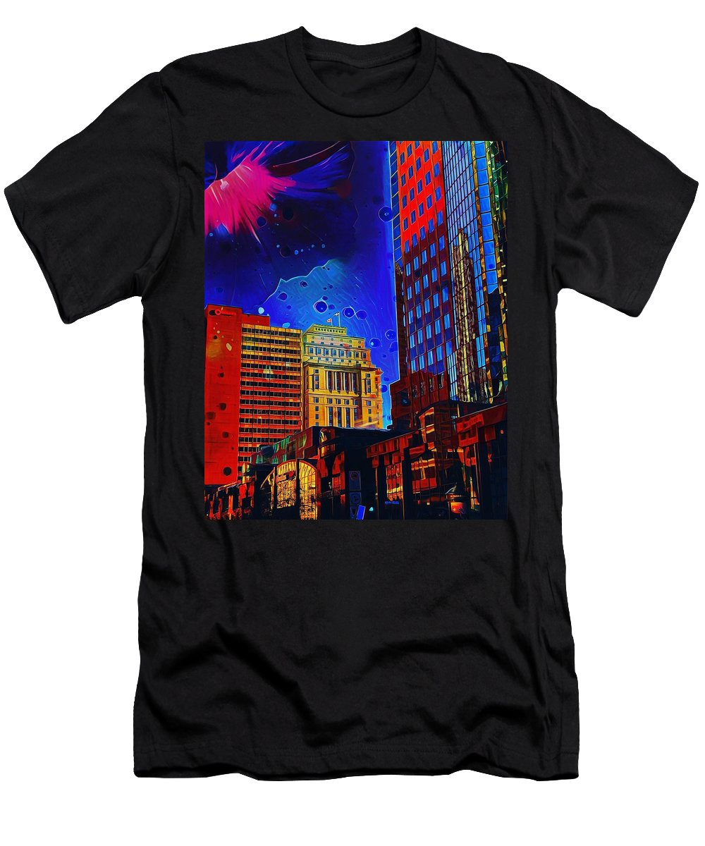 Downtown Men's T-Shirt (Athletic Fit) featuring the digital art Summer by Aiden Nettavong