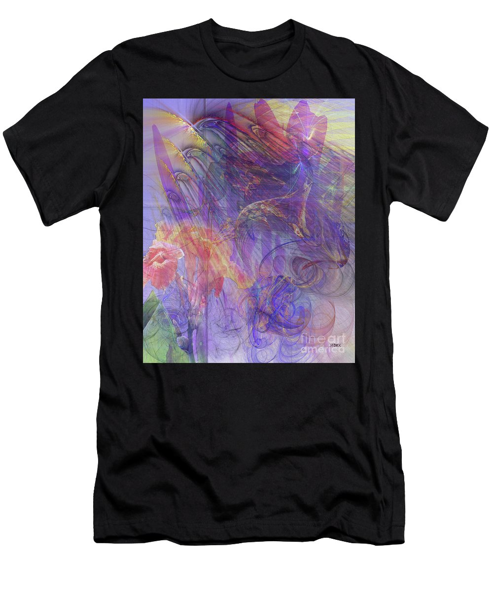 Summer Awakes Men's T-Shirt (Athletic Fit) featuring the digital art Summer Awakes by John Beck