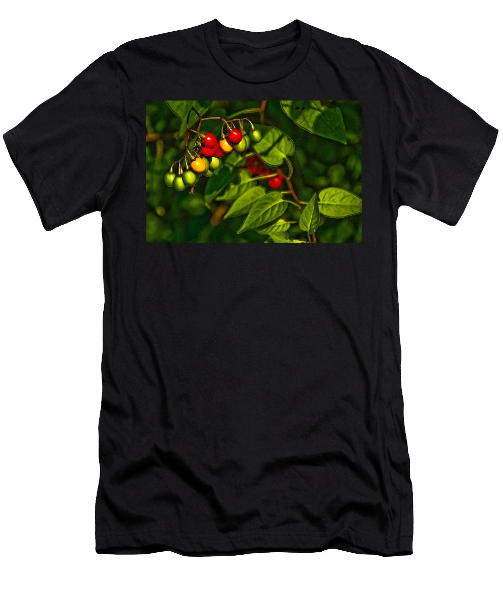 Berries Men's T-Shirt (Athletic Fit) featuring the photograph Summer Berries by Onyonet Photo Studios