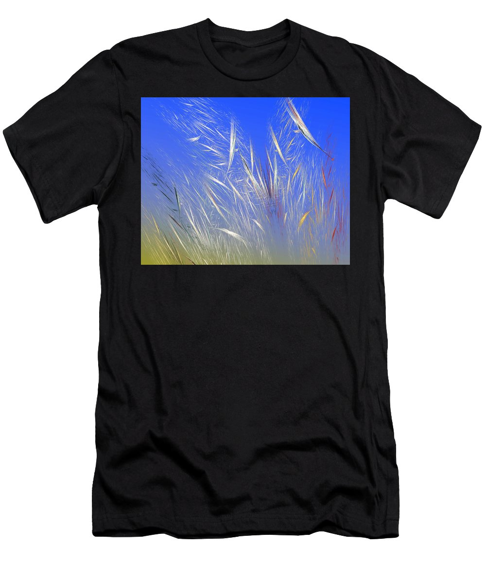 Fine Art Digital Art Men's T-Shirt (Athletic Fit) featuring the digital art Summer Breeze by David Lane