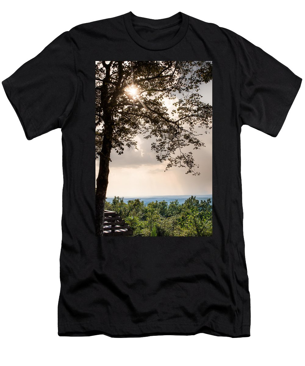 Sunlight Men's T-Shirt (Athletic Fit) featuring the photograph Summer Days On The Horizon by Parker Cunningham