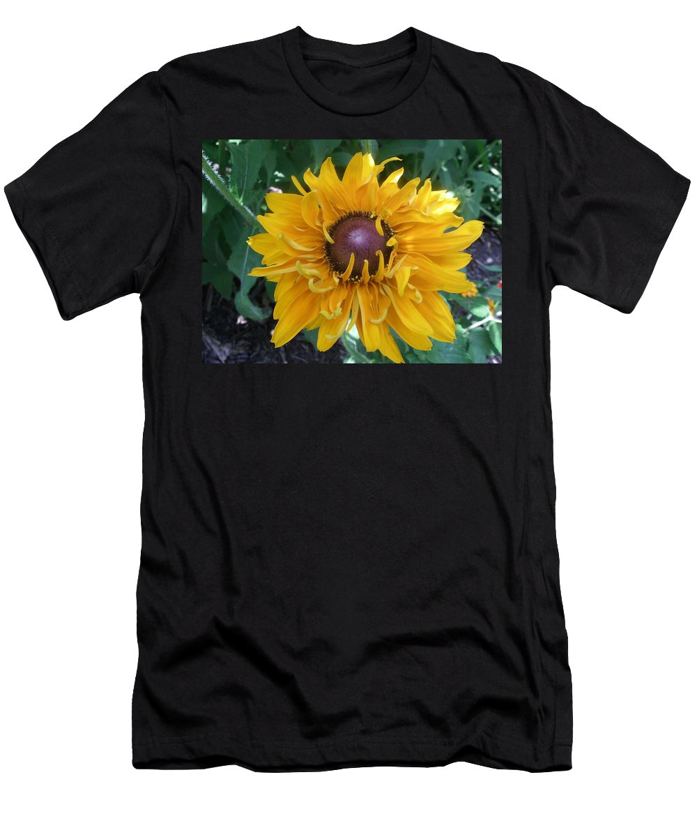Flowers Men's T-Shirt (Athletic Fit) featuring the photograph Summer Glow by Jan Gilmore