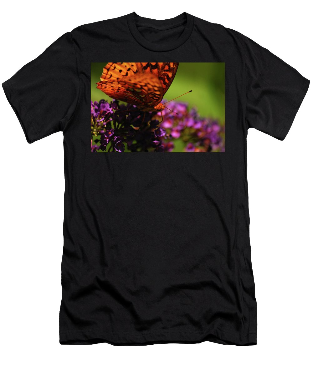Butterfly Men's T-Shirt (Athletic Fit) featuring the photograph Summer Glow by Lori Tambakis
