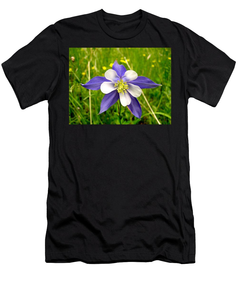 Plant Men's T-Shirt (Athletic Fit) featuring the photograph Summer In The Rockies by Carol Milisen