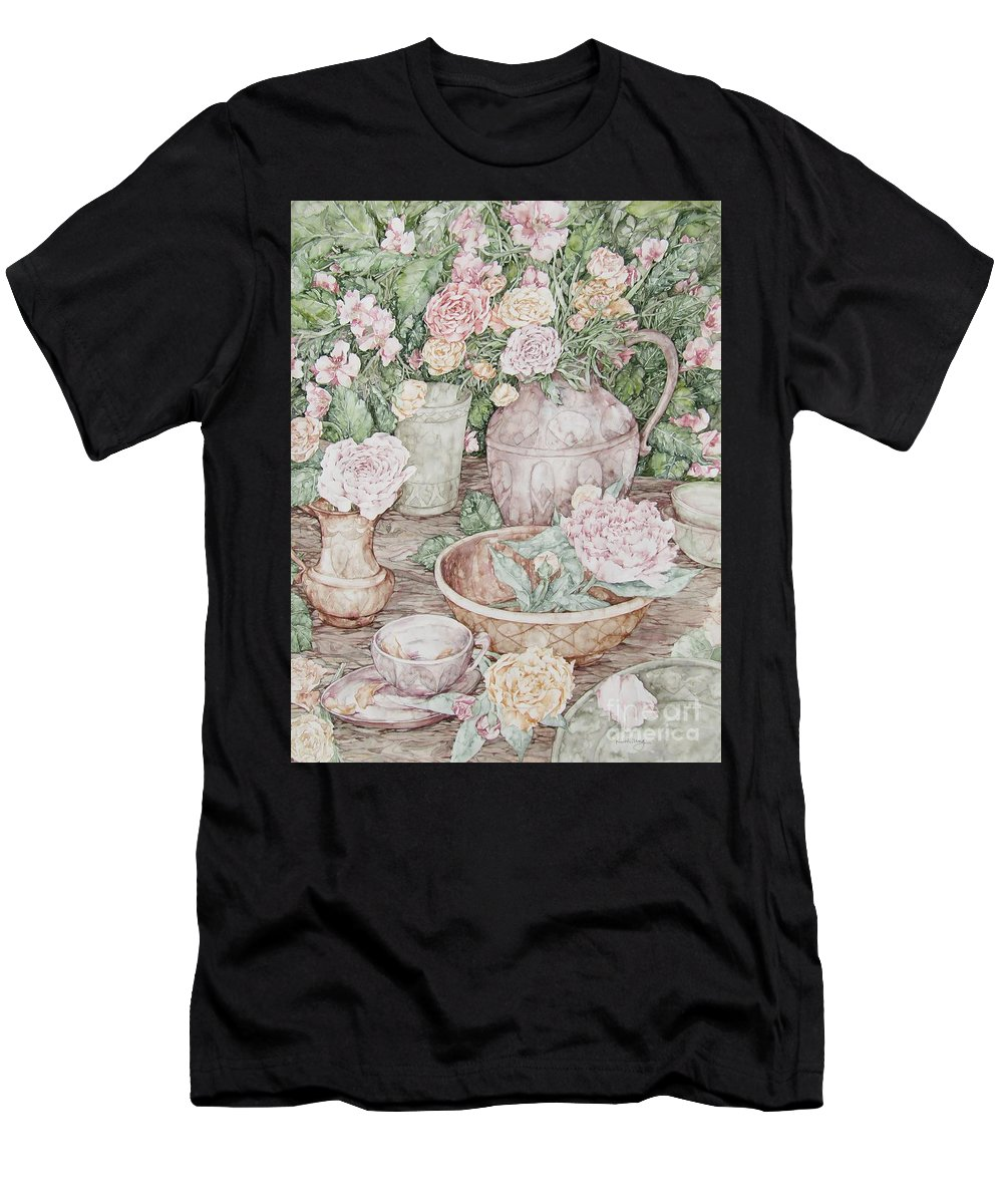 Flowers Men's T-Shirt (Athletic Fit) featuring the painting Summer by Kim Tran