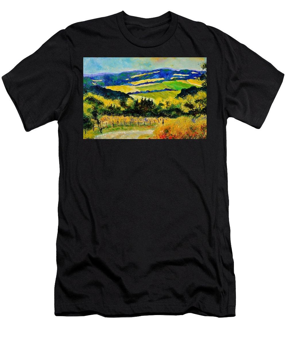 Landscape T-Shirt featuring the painting Summer Landscape by Pol Ledent