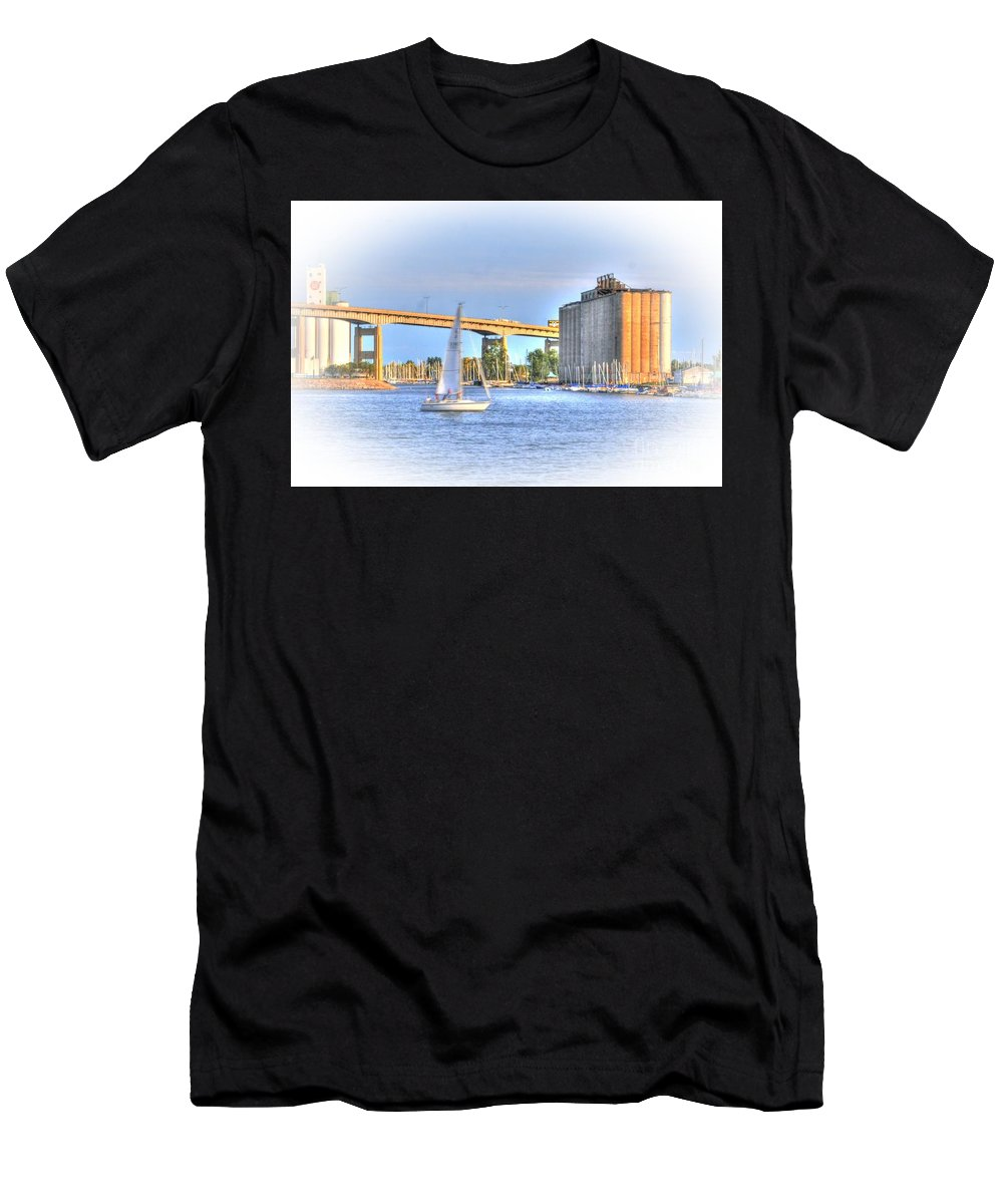 Sailboat Men's T-Shirt (Athletic Fit) featuring the photograph Summer Sailing by Kathleen Struckle