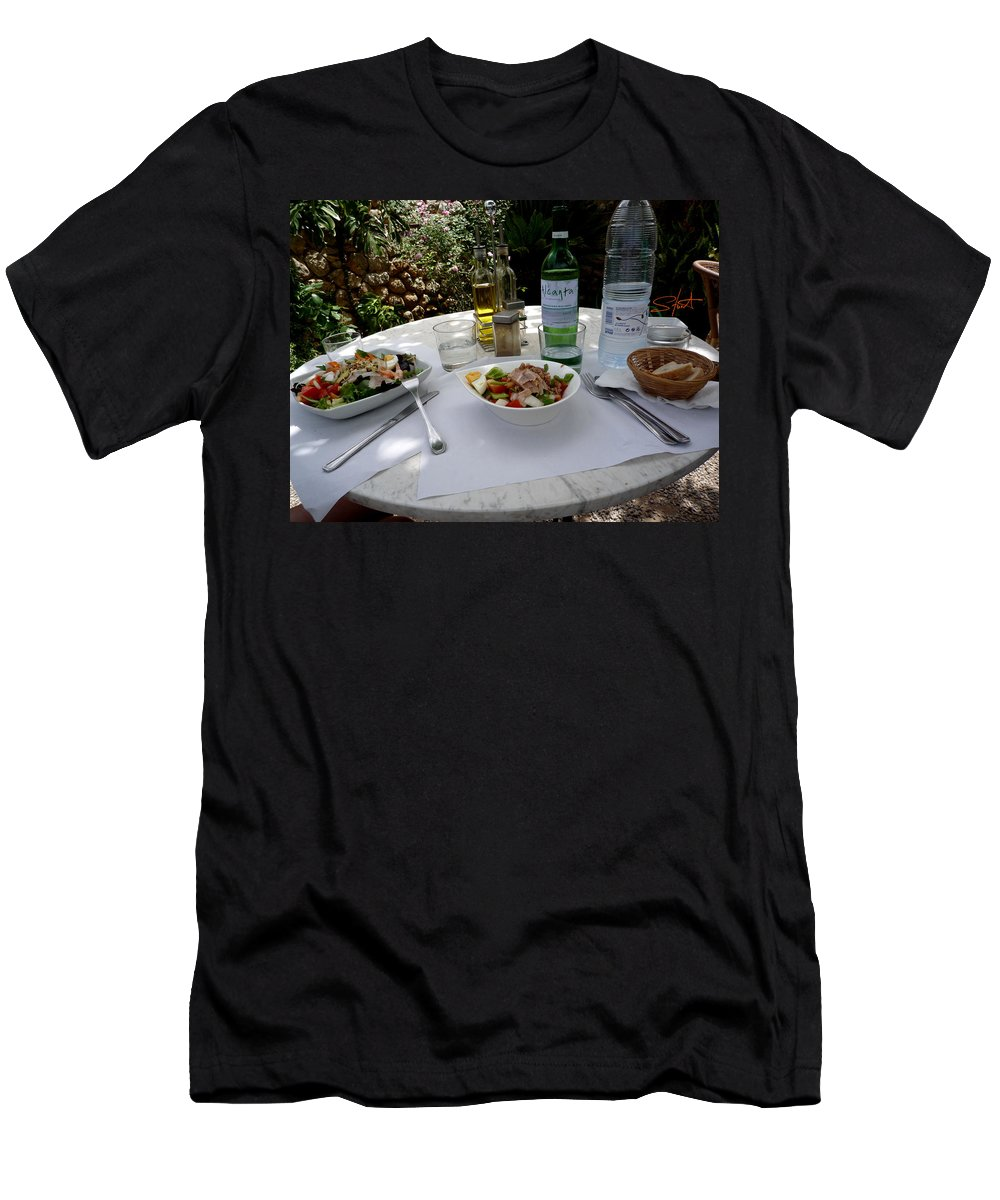 Lunch Men's T-Shirt (Athletic Fit) featuring the photograph Summer Salad by Charles Stuart