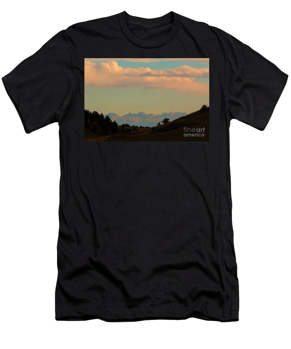 Sangre De Cristo Men's T-Shirt (Athletic Fit) featuring the photograph Summer Sangre De Cristo Sunrise by Steve Krull