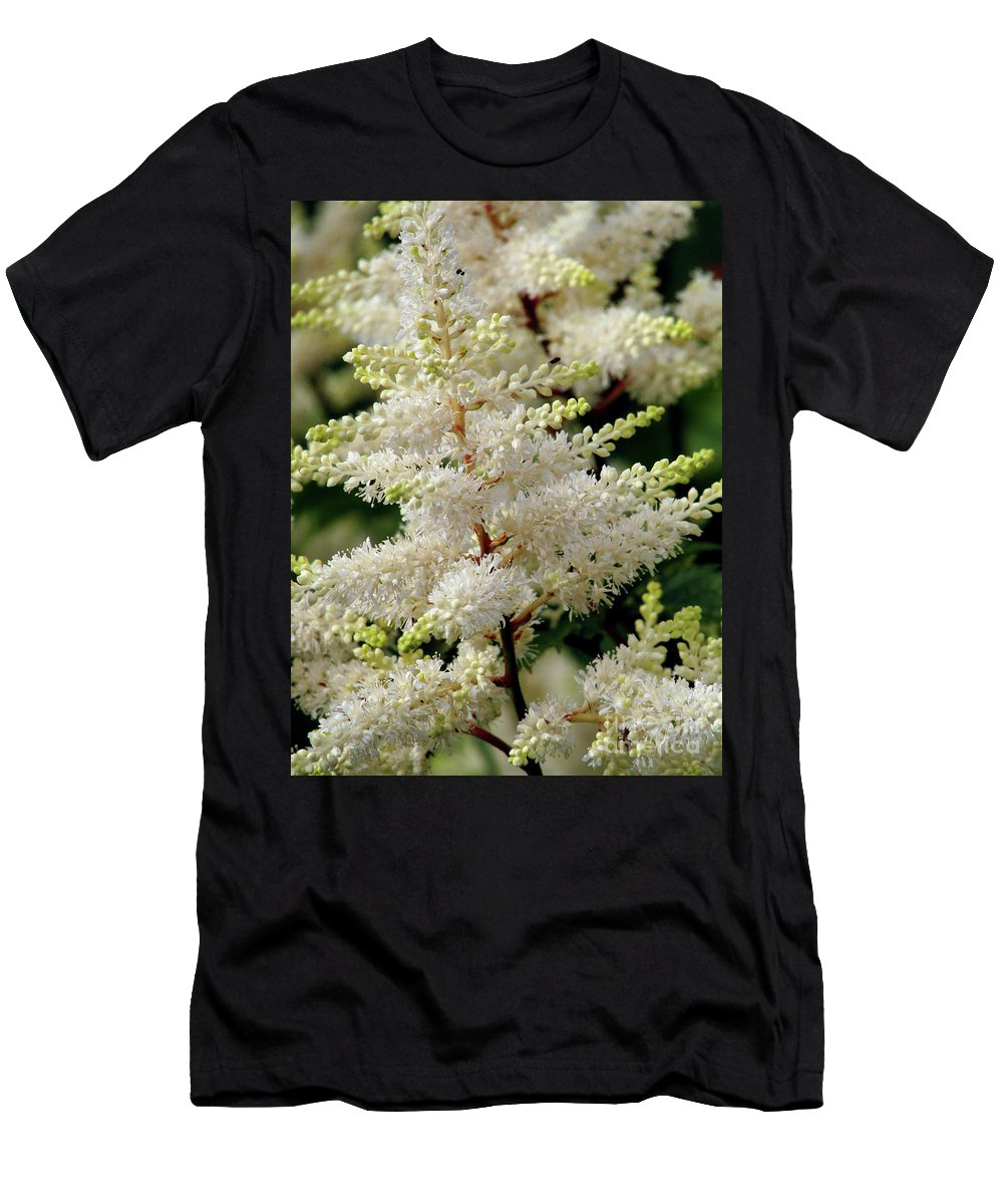 White Astible Men's T-Shirt (Athletic Fit) featuring the photograph Summer Snow by Kim Tran