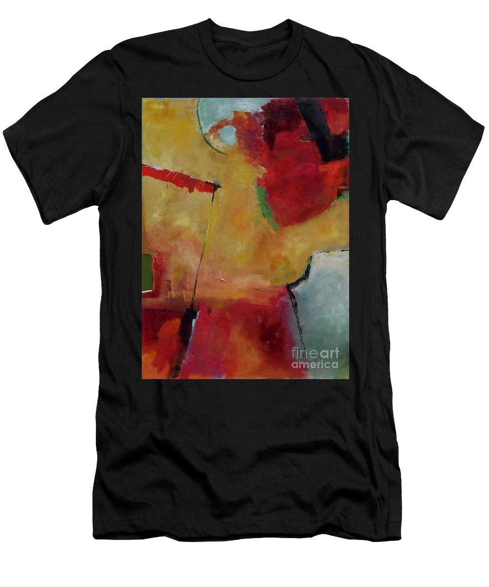 Abstract Men's T-Shirt (Athletic Fit) featuring the painting Summer Solstice by Donna Frost