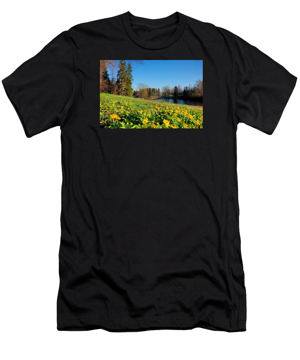 Blooming Men's T-Shirt (Athletic Fit) featuring the photograph Summer Starts by Yuri Hope
