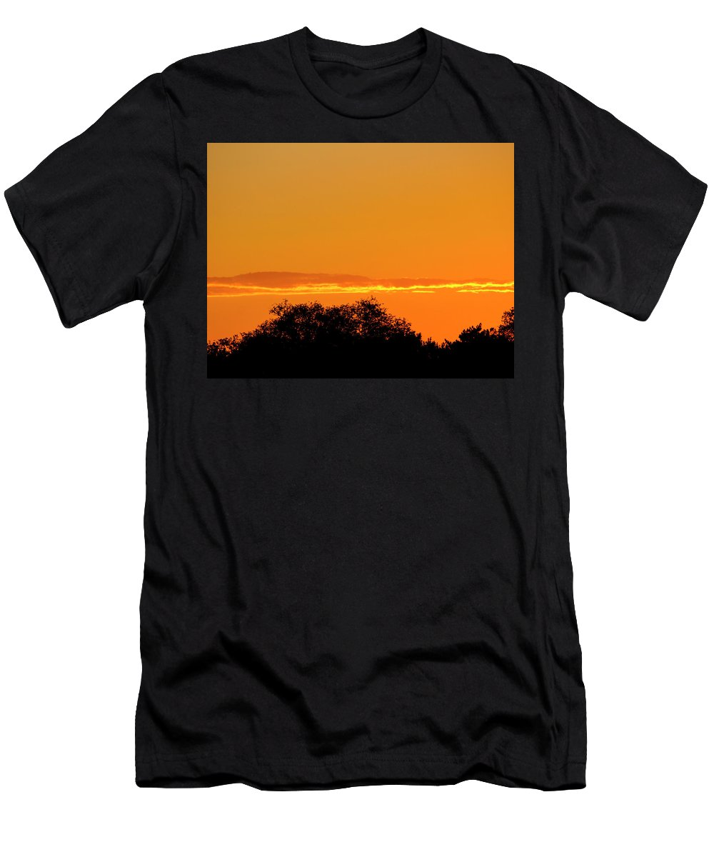 Nature Men's T-Shirt (Athletic Fit) featuring the photograph Summer Sunset by Todd Mitchell