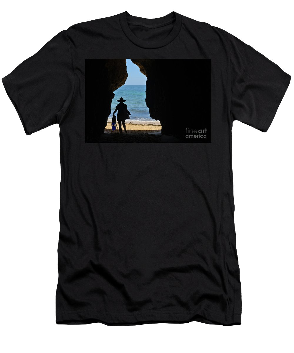 Algarve Men's T-Shirt (Athletic Fit) featuring the photograph Summer Tourist by Angelo DeVal