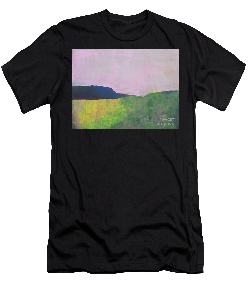 Abstract Landscape Men's T-Shirt (Athletic Fit) featuring the painting Summer Valey by Vesna Antic